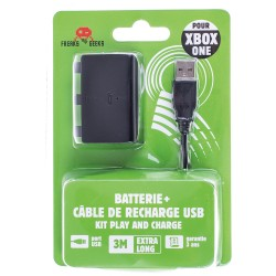 Batterie + Cable de recharge Pour XBOX ONE Play And Charge câble de 3 mètres