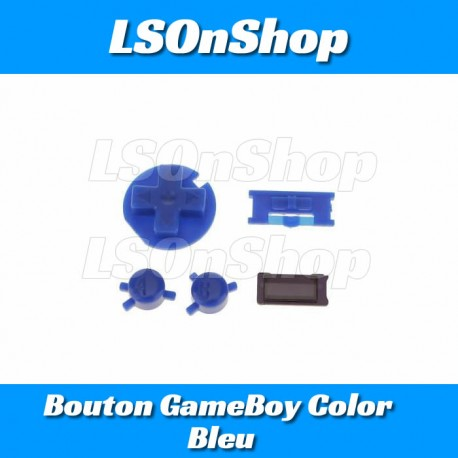 Kit Bouton GameBoy Color - Bleu