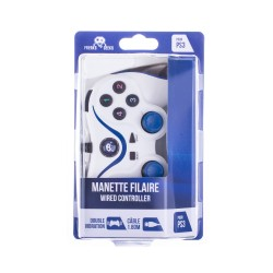 Kreaks and Geeks - Manette Filaire Blanche pour PS3