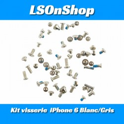 KIT DE VIS COMPLET POUR IPHONE 6/6s Gris/Blanc