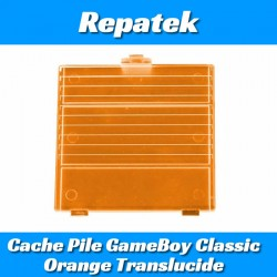 Cache Pile Console Nintendo GameBoy DMG Orange Translucide