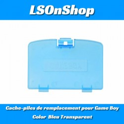 Cache-piles de remplacement  pour Game Boy Color Bleu Transparent