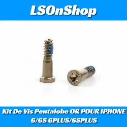 Kit De Vis Pentalobe OR POUR IPHONE 6/6S 6PLUS/6SPLUS